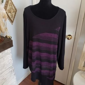 AGB black and purple striped sweater. Size…
